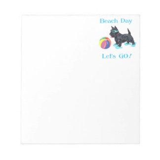 Beach Day Scottie Dog Notepad