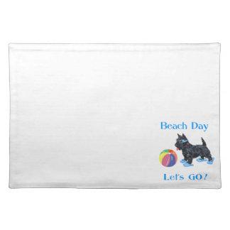 Beach Day Scottie Dog Placemat