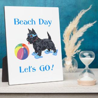 Beach Day Scottie Dog Display Plaques