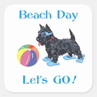 Beach Day Scottie Dog Sticker