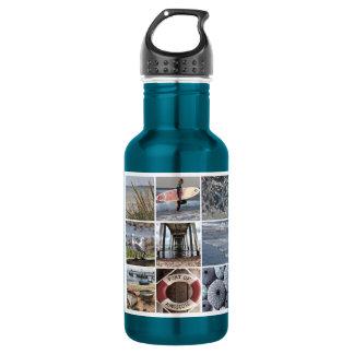 Beach Days Collage Water Bottle
