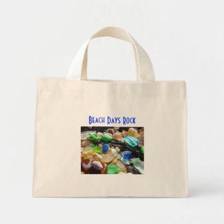 Beach Days Rock Tote Bags Seaglass Beaches Shells