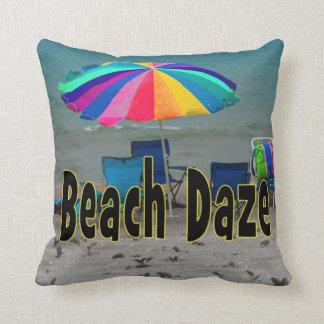 beach daze colorful umbrella beach ocean view pillows