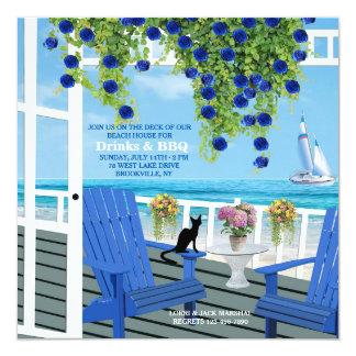 Beach Deck Invitation