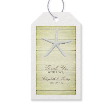 Beach Themed Beach Deck Starfish Wedding Gift Tags