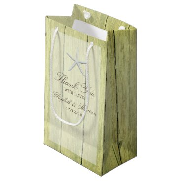 Beach Themed Beach Deck Starfish Wedding Small Gift Bag