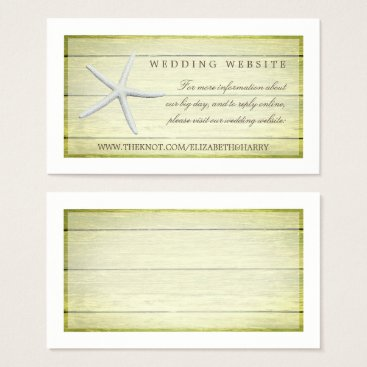 Beach Themed Beach Deck Starfish Wedding Website Business Card