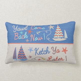 Beach Decor | Funny Nautical Pun | Sailing Humor Lumbar Pillow