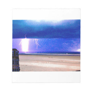 beach delight.Storms at the beach are beautiful Memo Notepads