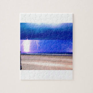 beach delight.Storms at the beach are beautiful Jigsaw Puzzles