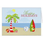 Beach dentist tooth Happy Holidays Christmas card