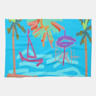 Beach Design by Carole Tomlinson Kitchen Towel