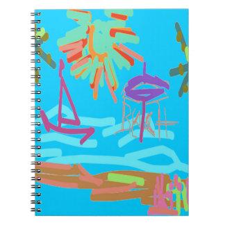 Beach Design by Carole Tomlinson Note Books