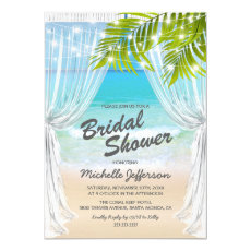 Beach Destination Bridal Shower Invitation