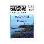 Beach Destination Rehearsal Dinner Postage Stamps