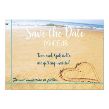 Beach Destination Save the Date FULLY CUSTOMISABLE Card