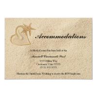 Beach Destination Wedding Accommodation Card