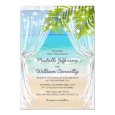 Beach Destination Wedding Invitation