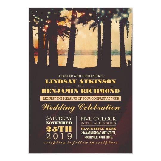 Destination Wedding Invitations When To Send: Beach - Destination Wedding Invitation