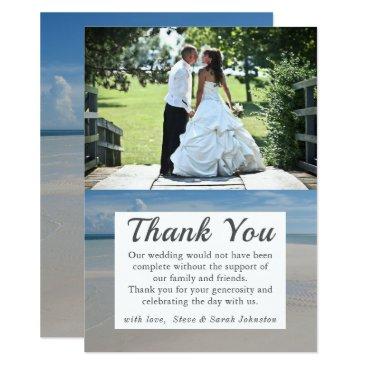 Wedding Themed Beach Destination Wedding Photo Thank You Cards