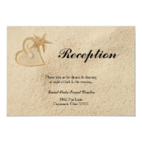 Beach Destination Wedding Reception Card
