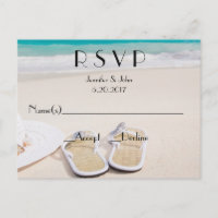 Beach Destination Wedding RSVP Cards