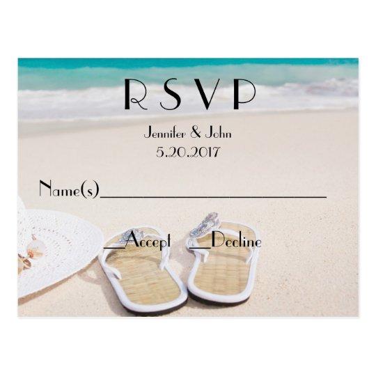 Beach Destination Wedding Rsvp Cards