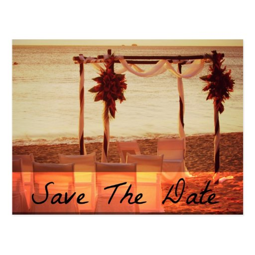 beach destination wedding save the date cards postcard zazzle