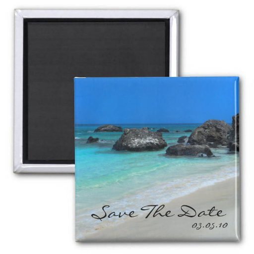 Beach Destination Wedding Save The Date Magnet Zazzle
