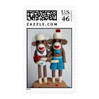 Beach Destination Wedding Sock Monkey Stamps Cards