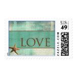 Beach Destination Wedding Stamps - love
