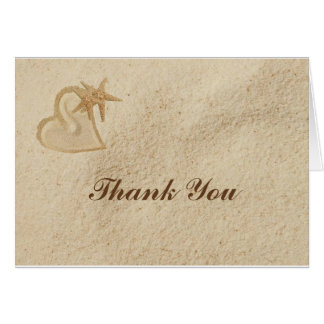 Beach Destination Wedding Thank You Card