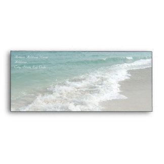 Beach Destination Wedding Ticket Envelopes