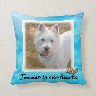 Beach Dog Forever Keepsake Photo Template Pillow