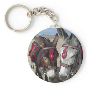 Beach Themed beach donkeys keychain
