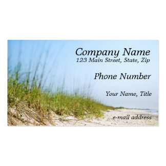 Beach Double-Sided Standard Business Cards (Pack Of 100)