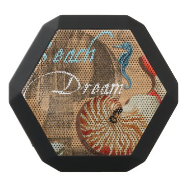 Beach Themed Beach Dream Black Bluetooth Speaker