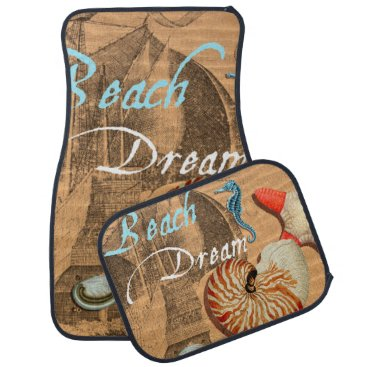 Beach Themed Beach Dream Car Mat