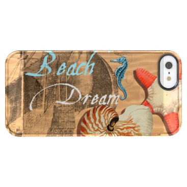 Beach Themed Beach Dream Clear iPhone SE/5/5s Case