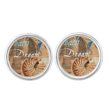 Beach Themed Beach Dream Cufflinks
