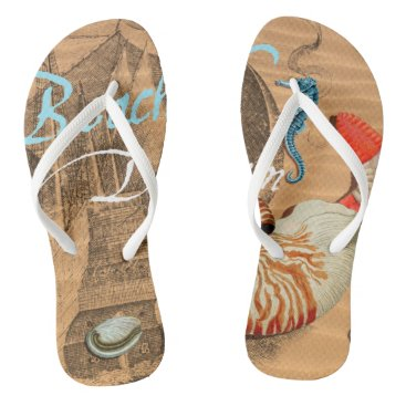 Beach Themed Beach Dream Flip Flops