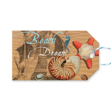 Beach Themed Beach Dream Gift Tags