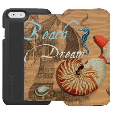 Beach Themed Beach Dream iPhone 6/6s Wallet Case