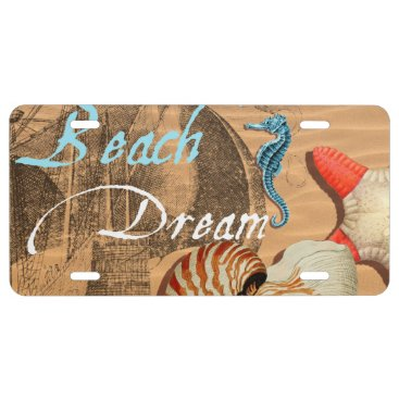Beach Themed Beach Dream License Plate