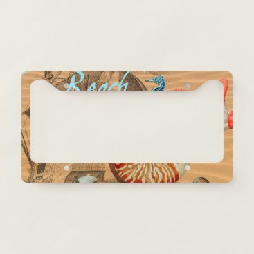 Beach Themed Beach Dream License Plate Frame