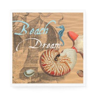 Beach Themed Beach Dream Napkin