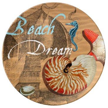 Beach Themed Beach Dream Porcelain Plate