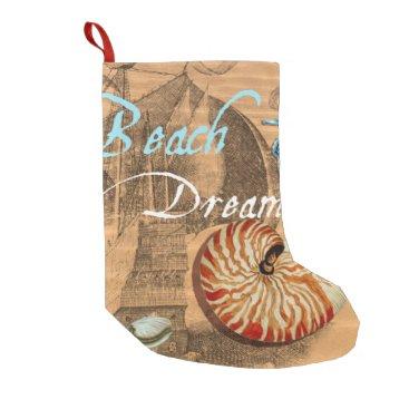 Beach Themed Beach Dream Small Christmas Stocking