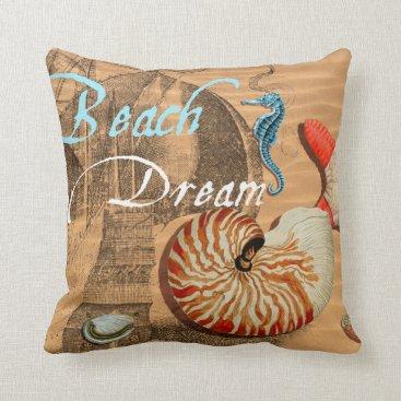 Beach Themed Beach Dream Throw Pillow