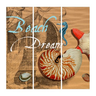 Beach Themed Beach Dream Triptych
